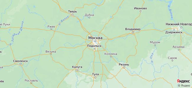Отдых в Московской области у реки - объекты на карте