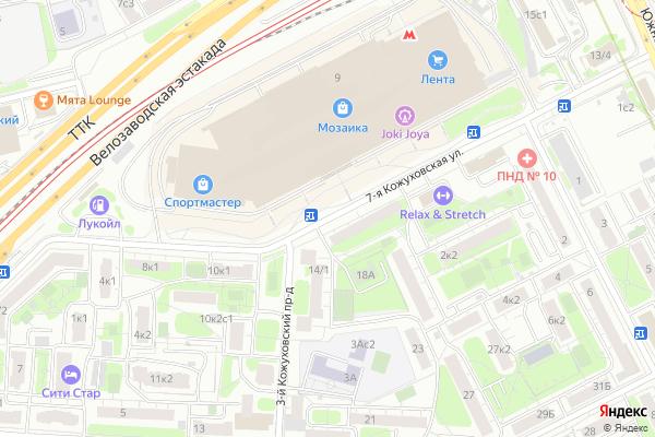 Ремонт телевизоров Улица 7 я Кожуховская на яндекс карте