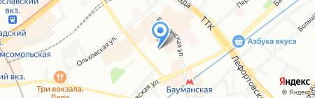 Трэвел Директ на карте Москвы
