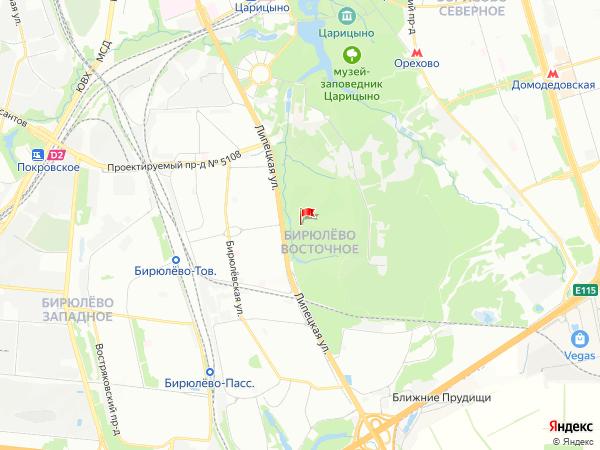 Карта район Бирюлёво Восточное