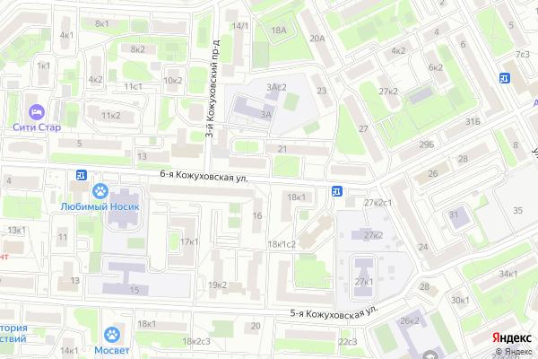 Ремонт телевизоров Улица 6 я Кожуховская на яндекс карте