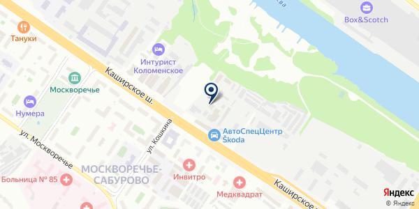 ТЕХКОНТРОЛЬ на карте Москве