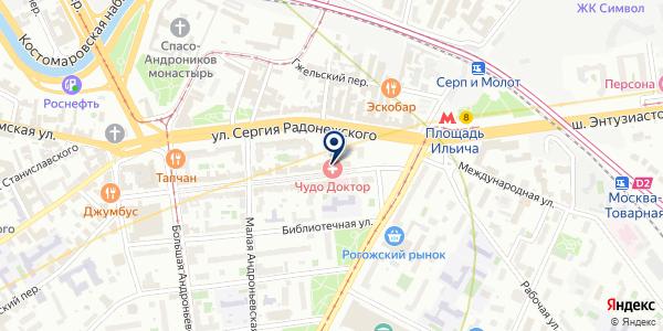 Чудо доктор на карте Москве