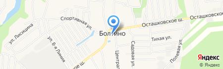 Храм Святой Троицы на карте Болтино
