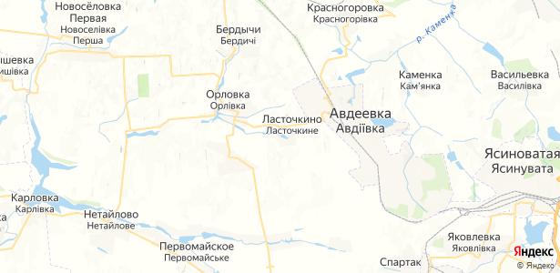 Ласточкино на карте