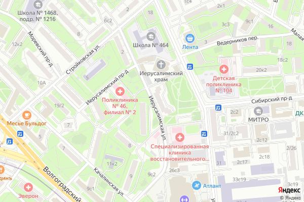 Ремонт телевизоров Улица Иерусалимская на яндекс карте