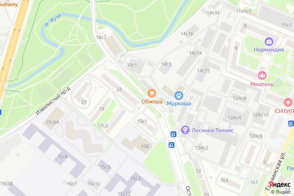 Ремонт телевизоров Улица Осташковская на яндекс карте