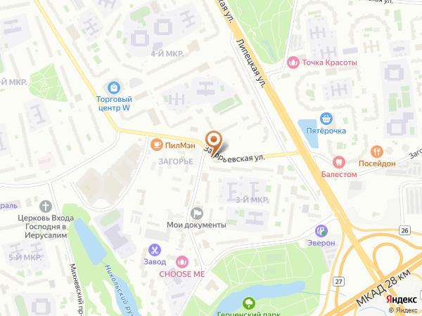 Остановка Загорьевская ул., 10 в Москве