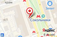 Схема проезда до компании Проектспецконструкция в Москве