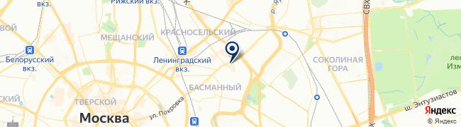 Расположение клиники Городской медицинский центр на Бауманской