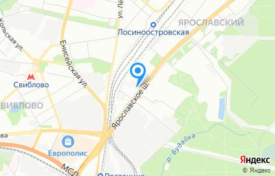 Местоположение на карте пункта техосмотра по адресу г Москва, ш Ярославское, д 7
