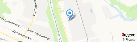 Итал на карте Донецка