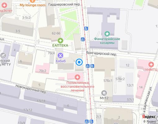 Товарищество собственников жилья «Бауманская 68/8» на карте Москвы