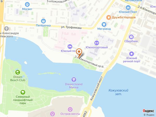 Остановка «2-й Южнопортовый пр.», 2-й Южнопортовый проезд (4636) (Москва)