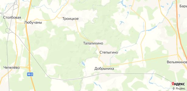 Талалихино на карте