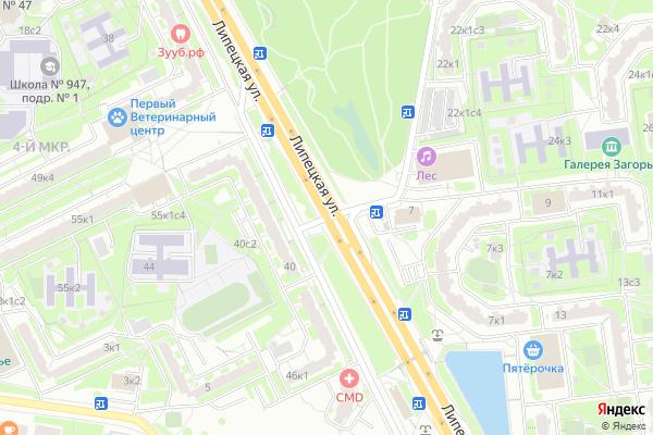 Ремонт телевизоров Улица Лебедянская на яндекс карте