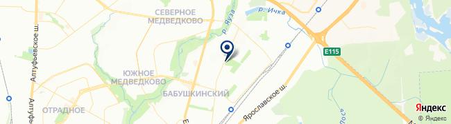 Расположение клиники «Столица» на Бабушкинской