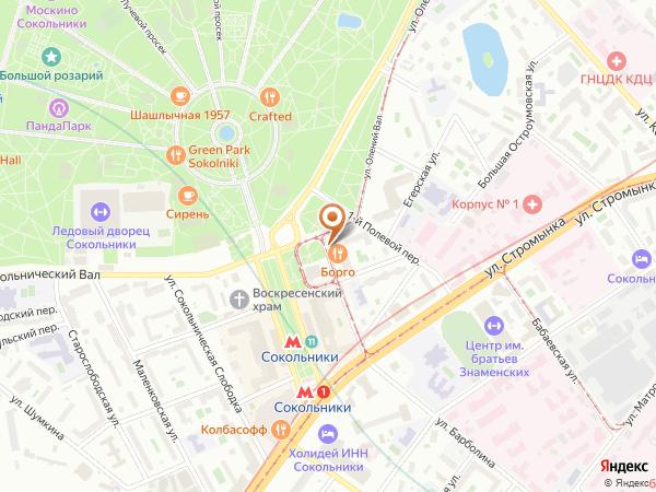 Остановка «Сокольническая Застава», 2-й Полевой переулок (6246) (Москва)