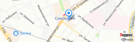 Атриум на карте Москвы
