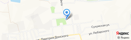 Лидиевка на карте Донецка