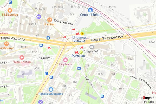 Ремонт телевизоров Метро Римская на яндекс карте