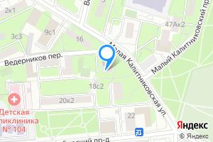Снять двухкомнатную квартиру в Москве м. Волгоградский проспект, Малая Калитниковская улица, 18