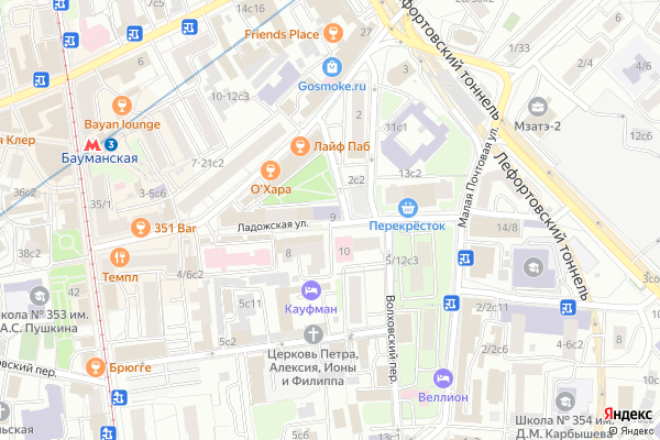 Ремонт телевизоров Улица Ладожская на яндекс карте