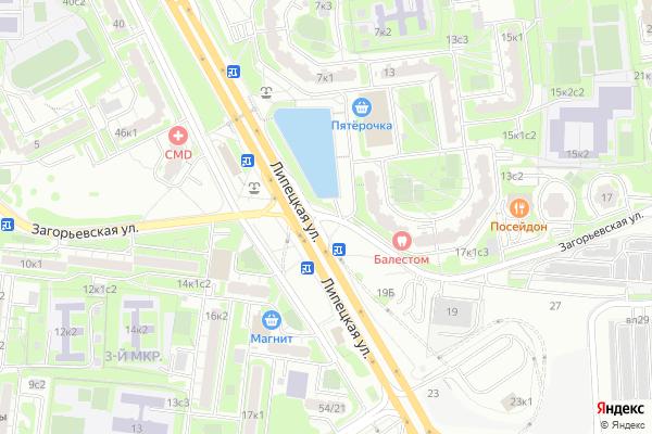 Ремонт телевизоров Улица Загорьевская на яндекс карте
