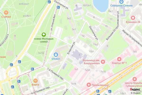 Ремонт телевизоров Улица Егерская на яндекс карте