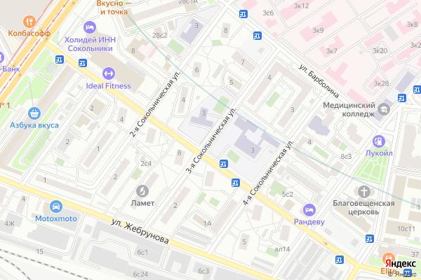 Ремонт телевизоров Улица 3 я Сокольническая на яндекс карте