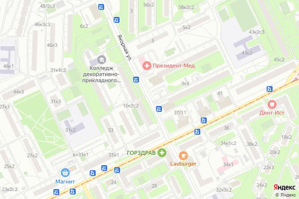 Ремонт телевизоров Улица Якорная на яндекс карте