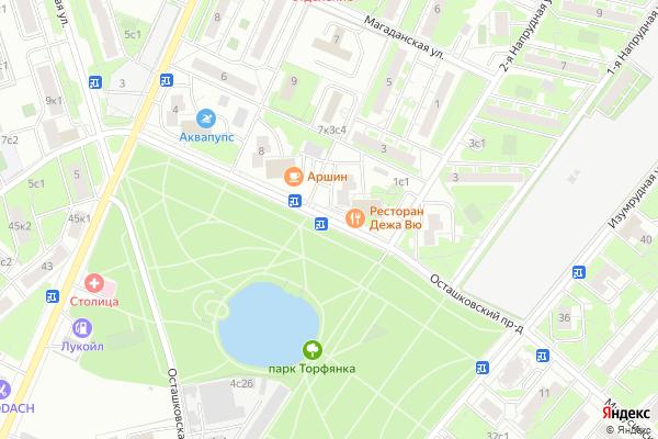 Ремонт телевизоров Осташковский проезд на яндекс карте