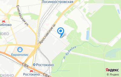 Местоположение на карте пункта техосмотра по адресу г Москва, ул Красная Сосна, д 5 стр 1
