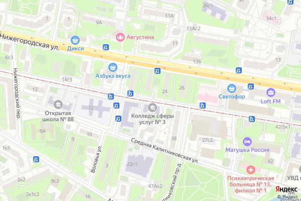 Ремонт телевизоров Улица Большая Калитниковская на яндекс карте