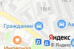 Схема проезда до компании Getshina в Москве