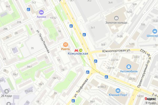 Ремонт телевизоров Метро Кожуховская на яндекс карте