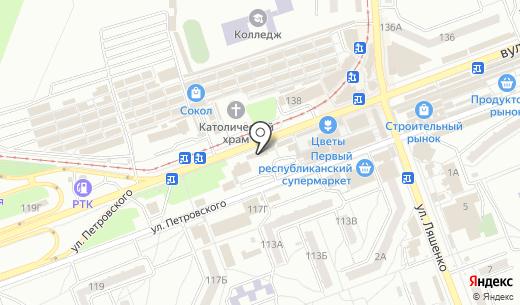 Книжный клуб. Схема проезда в Донецке