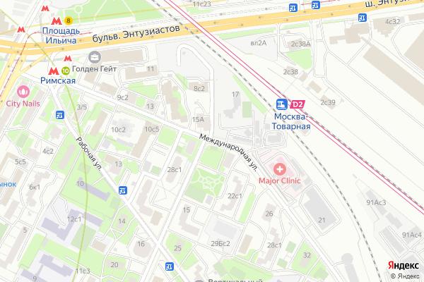 Ремонт телевизоров Улица Международная на яндекс карте