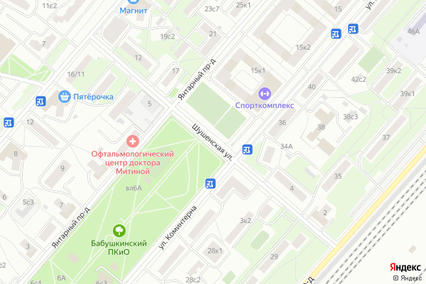 Ремонт телевизоров Улица Шушенская на яндекс карте