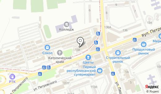Клинок. Схема проезда в Донецке