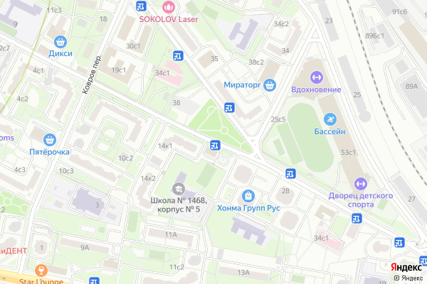Ремонт телевизоров Улица Новорогожская на яндекс карте