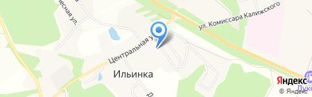 Администрация муниципального образования Ильинское на карте Большой Еловой