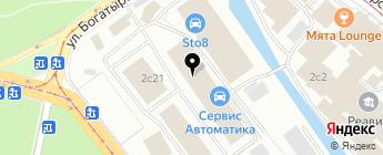 Автологика на карте Москвы