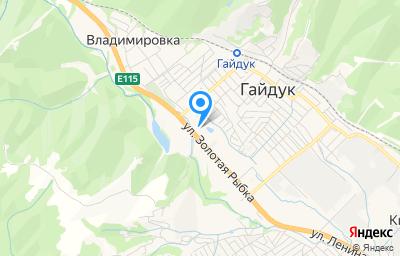 Местоположение на карте пункта техосмотра по адресу Краснодарский край, г Новороссийск, с Гайдук, ул Золотая рыбка, д 33 к 1