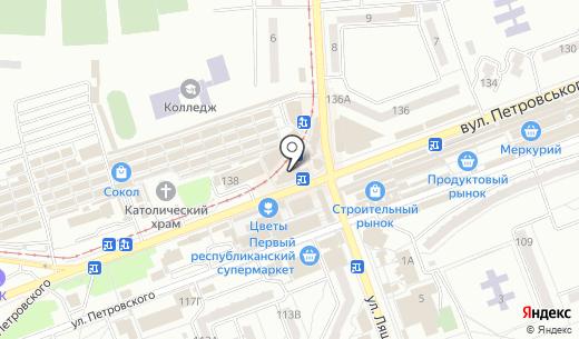 Колбасный магазин. Схема проезда в Донецке