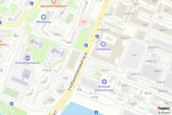 Ремонт телевизоров 2 й Южнопортовый проезд на яндекс карте