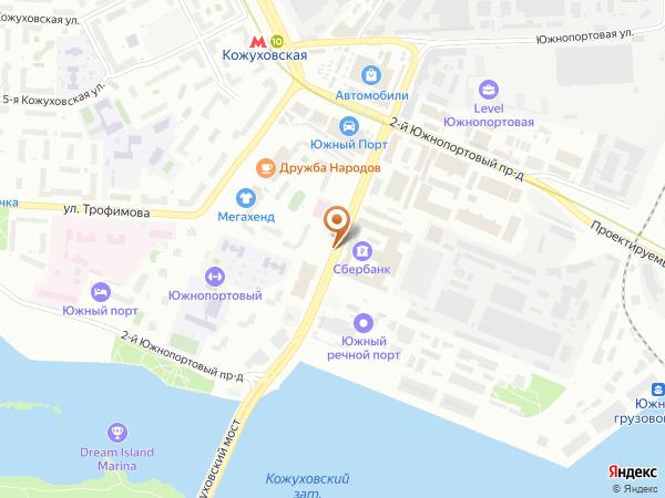 Остановка «Южный порт», 2-й Южнопортовый проезд (1008848) (Москва)