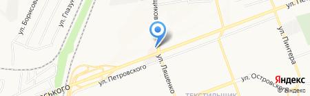 Ангел на карте Донецка