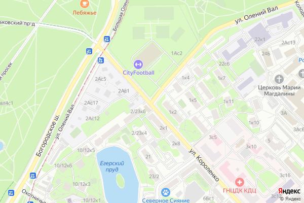 Ремонт телевизоров Улица Олений Вал на яндекс карте