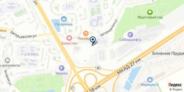Техавтоконтроль на карте Москве